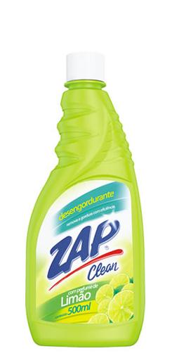 Desengordurante Zap Clean Limão Refil 500 Ml